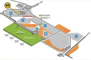 Algarve car hire - Faro Airport desk map