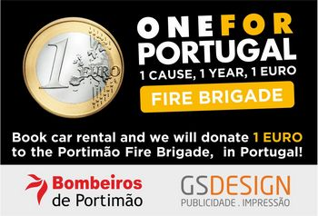 Offer on car hire - donate one euro to fire brigade per rented car